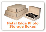 Metal Edge Photo Storage Boxes