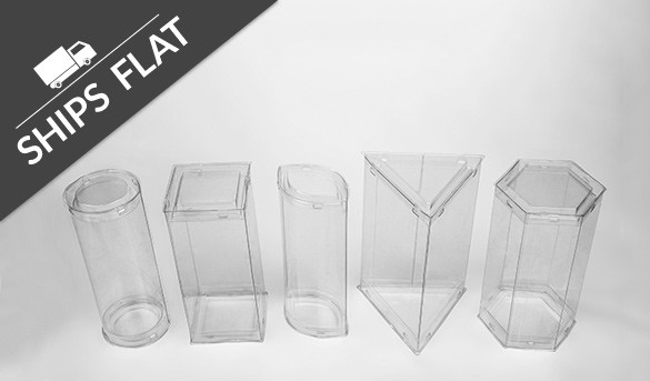 Pop Up Tubes Come Flat Crystal Clear Ornamental Packaging