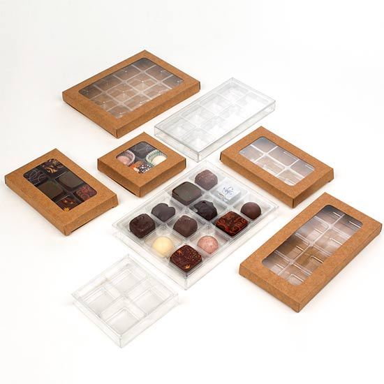 Clear Candy Boxes Artisan Candy Sets Clear Kraft