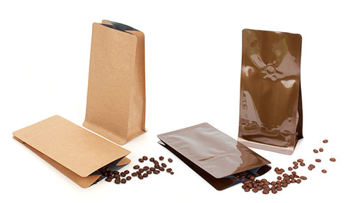 Box Bottom Quad Seal Coffee Bags