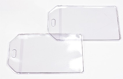 Clear Vinyl Luggage Tags - Worm Loops Sold Separate  2f99172d4cfb
