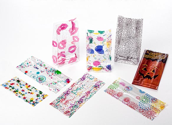 Crystal Clear Printed Gusset Bags
