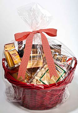 Gift Basket Wrap Clear Round Bottom Or Gusset Bags