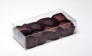 Clear Plastic Truffle Boxes Decorative Packaging