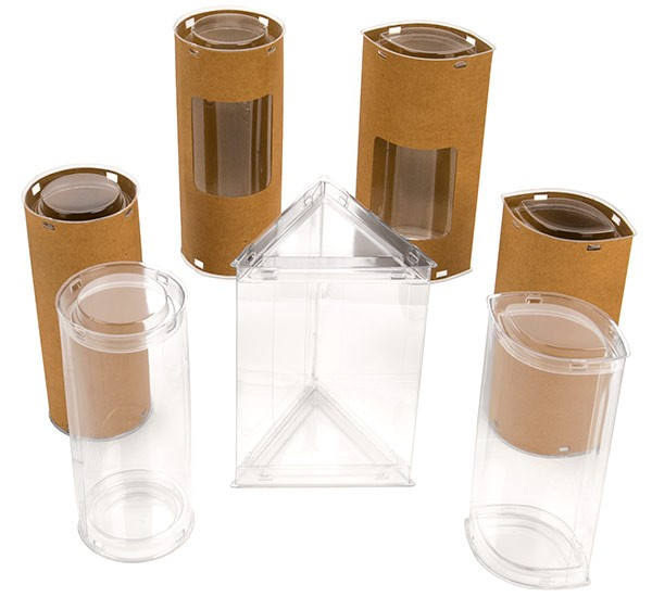 Plastic And Kraft Tubes Ornamental Packaging Crystal