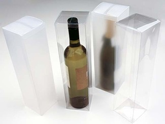 Clear Wine Bottle Plastic Boxes Gift And Favor Packaging