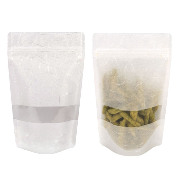 Rice Paper Stand Up Pouches With Window Clearbags Com