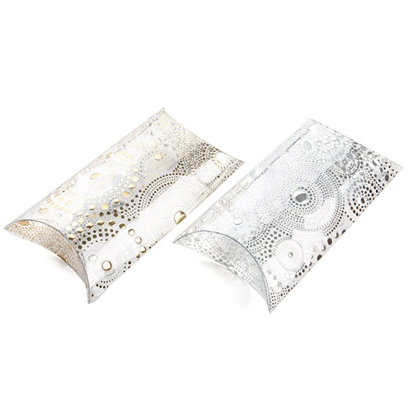 embossed pillow boxes