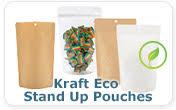 Eco Friendly Kraft Stand Up Pouch