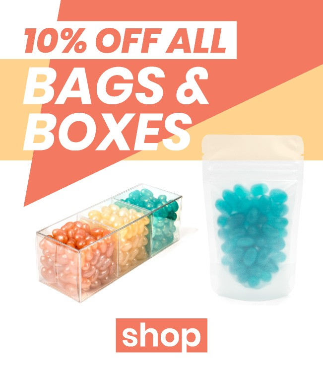 Save 10% on Bags & Boxes