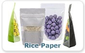 Fancy Food Packaging Stand Up Zipper Pouches Style