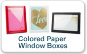 Colored Kraft Paper Window Boxes