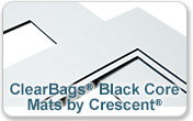 Precut Decorative Mats Crescent Berkshire White Black Core