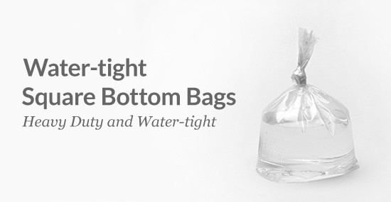 Water-tight Square Bottom Bags