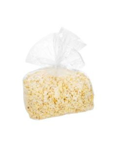 Popcorn packaged in clear bag