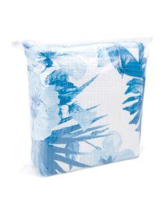 Resealable zip top bag with blanket