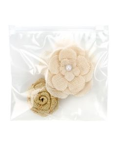 Resealable zipper top bag with flower