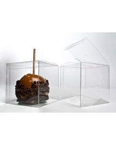 Candy apple box with hole in lid of box