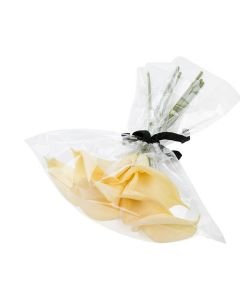 No flap bag with flowers