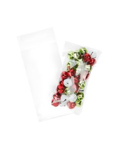 Holiday bells inside crystal clear bag