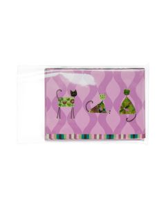 Clear sleeve with greeting cards