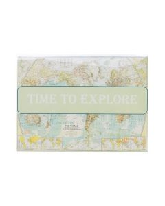 Greeting card in clear flap bag