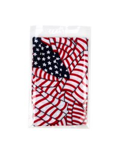 american flag cloth in clear packaging