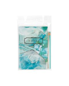 Flap seal bag with stationery
