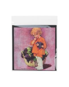 Protective Sleeve with Adhesive on Bag for Greeting Cards