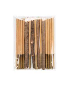 Pencils inside clear flap seal bag
