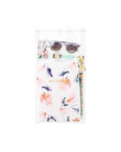 Stationery & accessories in flap seal bag