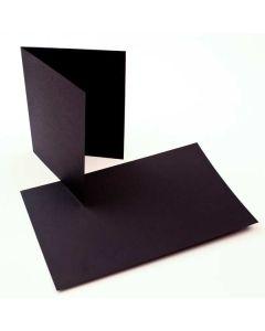 "A7 7"" x 4 7/8"" Basis Blank Card, Black (50 Pieces) [PC015]"
