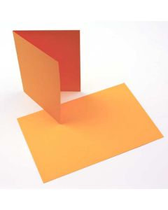 """A2 5 1/2"""" x 4 1/4"""" Basis Blank Card Gold (50 Pieces) [PC207]"""