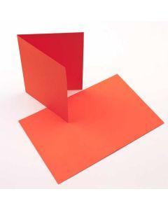 "A7 7"" x 4 7/8"" Basis Blank Card Orange (50 Pieces) [PC009]"