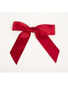 "3 1/2"" Red Pre-tied Bow (100 Pieces) [BOW7RE]"
