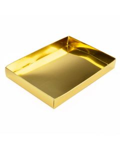"""5 3/8"""" x 1"""" x 7 1/2"""" Shimmer Gold Paper Box Bottom (25 Pieces) [SG15]"""