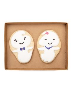 box bottom with cookies
