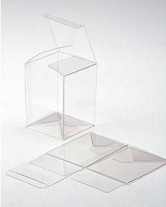 """6 1/4"""" x 5 1/2"""" x 7 5/8"""" Crystal Clear Pop & Lock Boxes (25 Pieces) [PLB106]"""