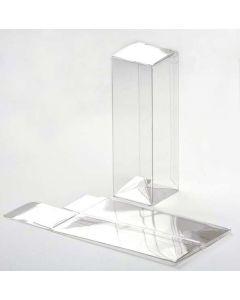 "1 5/8"" x 1 5/8"" x 5"" Crystal Clear Boxes®, Pop & Lock Bottom (25 Pieces) [PLB34]"