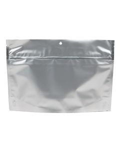 "9"" x 2 7/16"" x 6"" (Outer Dims) Matte Silver Child Resistant Pouch Bags (100 Pieces) [CRP96MS]"