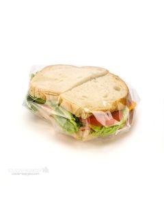 Sandwich in clear wrap