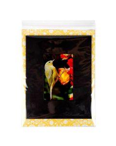 Self Adhesive flap bag with card