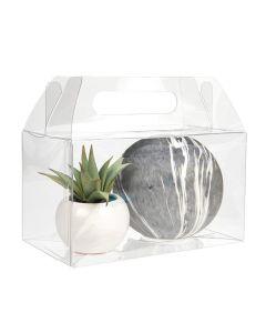 Food safe crystal clear handle box