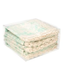 Folded fabric packaged in box