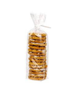 stacked cookies in gusset bag