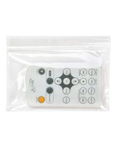 remote control inside clear zipper bag