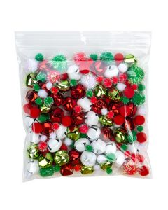 7 x 7 clear zipper bag with hang hole