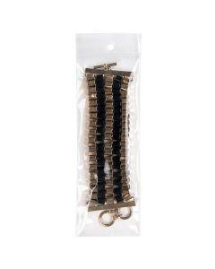 "jewelry inside clear hanging zipper bag - 2 1/2"" x 7"""