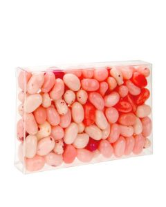 Crystal Clear box with jellybeans