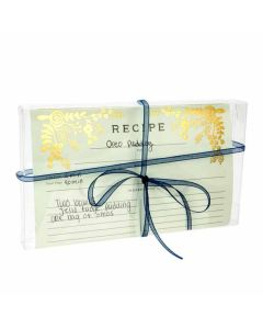Clear box with recipe cards